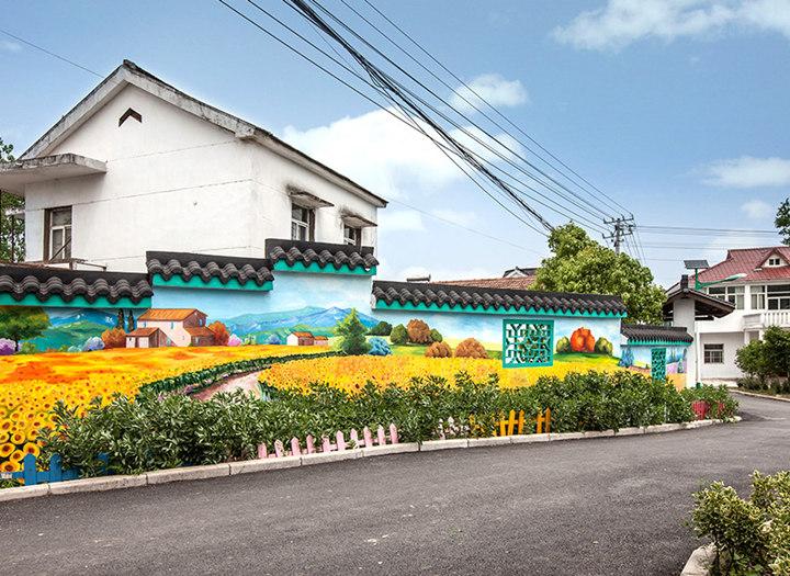 农村外墙手绘画图片
