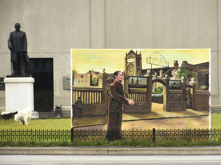 户外大型广告喷绘