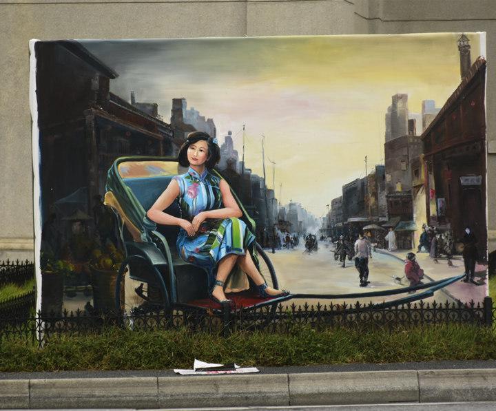 外墙广告墙体喷绘施工