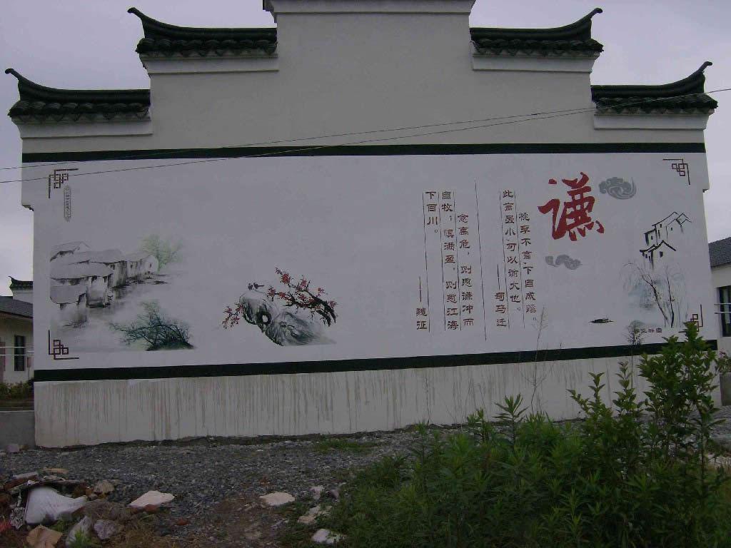 在墙体彩绘的时候选择中国风的风格