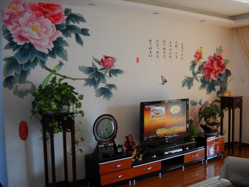 简单漂亮的手绘墙画
