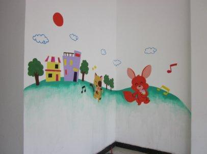 墙绘在室内或者室外具有一个美容的效果