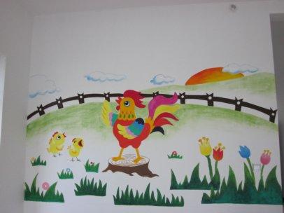 正确的内墙涂料颜色可以改变墙绘的整个外观
